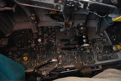 McDonnell-Douglas F4 Phantom II cockpit trainer No flash - F4 left console. (wbaiv) Tags: usa plane airplane us flying aircraft military navy machine phantom f4 pilot trainer procedures trainersimulator ironbirdproceduresrefresherinstrument