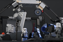 Imperial Photo Studio (ErnestoCarrillo70) Tags: stormtrooper photostudio minifig darthvader diorama starwarslego lightsetup