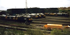 Eastfield TMD, 18th April 1992 (elkemasa) Tags: 1992 class37 class08 class20 class26 eastfieldtmd