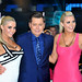 Kristina and Karissa Shannon with host Brian Dowling Celebrity Big Brother Live Final held at Elstree Studios. London, England
