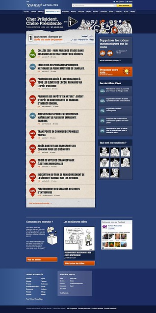 A moins de 3 mois du premier tour, Yahoo! renforce son dispositif éditorial pour accompagner les Français pendant la campagne présidentielle