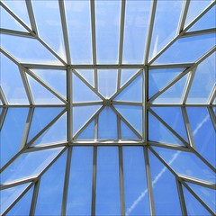 Space and light and order. Those are the things that men need just as much as they need bread or a place to sleep - Le Corbusier (Dom Guillochon) Tags: california blue light sky usa abstract art colors lines architecture clouds fun contrail shadows unitedstates sandiego geometry couleurs space bluesky ceiling colori glassceiling californiawinter ombres hortongrandhotel domguillochon