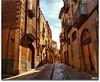 Calle del interior del casco antiguo (Nati C.) Tags: calle interior hdr montblanc tarragona cascoantiguo cruzadas cruzadasgold