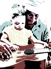Young Protege - Drawn (Reinalasol) Tags: people playing cute altered fun person toddler flickr guitar candid experiment made odd human filter tweak change panama ang unposed candids shopped alter tweaked 2009 picnik humans changed tweaks filtered playingaround chirriqui april2009 picniked picnicked panama2009 reinalasol marfos