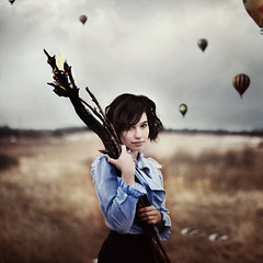 i set them all free. (karrah.kobus) Tags: girl field fire freedom sticks free hehehe hotairballoons itoldsophiatolookmischevious