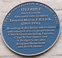 Photo of Leonard Martin blue plaque