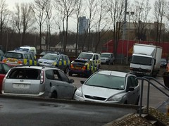 "Strathclyde Police ""PolAcc"" Vehicles at their Meiklewood Road Workshops (UK EVPhotography) Tags: ford vw mercedes focus estate crash accident mitsubishi transporter interceptor outlander st3 atego anpr polac mountune polacc sf10dwo satrow ukevp"