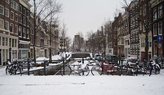 IMG_4642-1 (ge0craig) Tags: winter bw snow ice amsterdam bike canal frozen cycle grachten jordaan