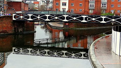 The start of the BCN (main line and Ozells st loop to the left) (eucharisto deo) Tags: street old bridge reflection st canal birmingham paradise bcn basin gas wharf network reflectedbridge