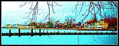 Stamford Shoreline (Krasivaya Liza) Tags: park water pier seaside harbour connecticut ct shore stamford harbourpoint stamfordharbour