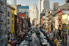 FotoGraphy (FotoGraphy by FAB) Tags: nyc newyorkcity snow newyork chinatown manhattan snowstorm manhattanbridge blizzard municipalbuilding eastbroadway woolworthbuilding beekmantower nikoncapturenx nikkor35mm nikond90