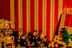 LEGO Sacrifice Escape (wesleyobryan) Tags: animal naked furry lego circus heads cult vignette sacrifice apocalego
