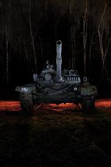 Russian Heavy Metal (Devon OpdenDries) Tags: longexposure lightpainting night army war gun tank armor soviet russian heavy coldwar t72