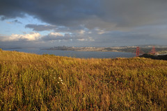 Golden Hour (fksr) Tags: sanfrancisco california grass clouds landscape goldengatebridge marincounty sanfranciscobay marinheadlands goldenhour lateafternoon