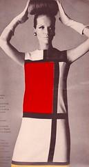Vogue Editorial September 1965 (moogirl2) Tags: vintage 60s vogue editorial 1965 irvingpenn yvesstlaurent 60sfashion vintagevogue mondriandress
