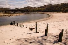 Posts on white sands of Morar (Briantc) Tags: beach scotland sand highland posts whitesand morar