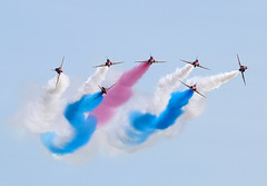 Red Arrows (Bernie Condon) Tags: uk plane flying team beds hawk aircraft aviation military jet formation airshow planes arrows reds bae shuttleworth trainer redarrows raf warplane aerobatic airdisplay 2016 royalairforce rafat oldwarden