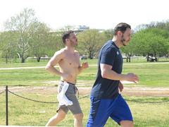 IMG_0652 (FOTOSinDC) Tags: shirtless man men muscles muscle candid handsome running sweaty sweat shorts jogging runner tee jogger