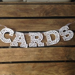 Lace letters (EmmaBuntingUK) Tags: birthday wedding party baby children cards design pretty interiors mr lace decoration garland gift gif mrs bunting pennant