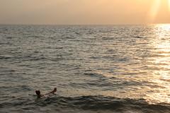 Dead Sea, Jordan (pepperinmyteeth) Tags: ocean travel blue sunset shadow sea vacation sun lake west water silhouette yellow israel desert dusk palestine westbank salt middleeast floating bank arabic east jordan arab arabian middle float saltwater levant
