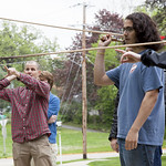 "<b>Atlatl Lessons with Colin Betts</b><br/> Colin Betts' Anthro class learns how to use a atlatl outside of Koren Hall. May 11th, 2016. Photo by Aaron Lurth<a href=""http://farm8.static.flickr.com/7034/26924350866_618e69be65_o.jpg"" title=""High res"">∝</a>"