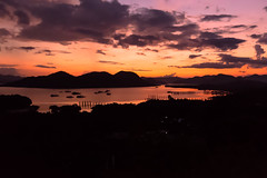Sunset in Coron Town (__Alex___) Tags: trip travel sunset sea sun night clouds canon boats island evening town view philippines wide ile 5d coron discover 1635mm busuanga corontown 1635f4is