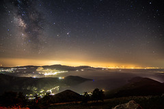 Milky Way rises over the Corinthian gulf (Vagelis Pikoulas) Tags: sea night canon way stars landscape star spring europe long exposure view nightscape space may tokina greece galaxy universe milky 6d 2016 1628mm