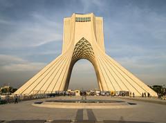 Azadi Monument (Martin Tsvetkov) Tags: city travel panorama snow tower architecture landscape photography view iran prayer palace tehran milad shah azadi golestan
