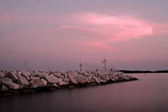 Pier after sunset (senza senso) Tags: longexposure sunset pier croatia breakwater istria darktable