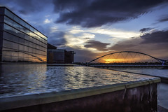 Tempe Bridge (L Geoffroy) Tags: arizona building places sunset tempe outdoor