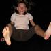 Mädchen auf dem Trampolin