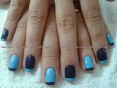 Azul celeste e marinho (laísa creatto) Tags: azul nail unha colorama francesinha alternado