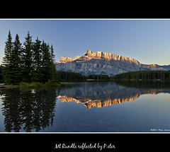 Mt Rundle reflected (pDOTeter) Tags: canada reflection alberta banff mtrundle picnicarea twojacklake