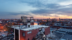 urban decay @ Montreal | davidgiralphoto.com (David Giral | davidgiralphoto.com) Tags: sunset sky canada skyline architecture buildings evening cloudy quebec dusk montreal urbandecay demolition atwater