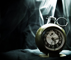 I'm a Ticking Time-Bomb! (Snoos Pix) Tags: old clock photo time smoke fake string bomb grenade ticking maglight extremist
