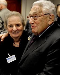 Madeline Albright and Henry Kissinger