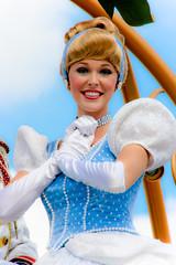 Cinderella (abelle2) Tags: princess disney parade disneyworld cinderella wdw waltdisneyworld magickingdom disneyprincess disneyparade princesscinderella celebrateadreamcometrueparade celebrateadreamcometrue