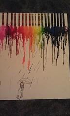It's raining melting crayons. (sc originals) Tags: dog art girl melting crayon raining