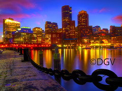 Boston Waterfront (DGVARCH) Tags: auto blue sunset white 3 black reflection boston architecture night silver 1 focus group award chain level granite the bostonharbor highrisebuilding buildingsarchitecture thegalaxy towardthesky thebeautyofnature colorphotoaward skywaterfront ringexcellence tplringexcellence flickrstruereflection2 flickrstruereflection3 flickrstruereflectionlevel3 theelitephotographerlevel5 flickrsfinestimages1 flickrsfinestimages2 flickrsfinestimageslevel1 thelooklevel1red gallerythebest hdrpictureshighqualityonly fencesfencingirongatesbridge