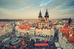 Christmas Market in Prague (Philipp Klinger Photography) Tags: christmas xmas old sky tree tower church clouds weihnachten town nikon advent republic czech prague market kirche praha christmasmarket tschechien weihnachtsmarkt ring czechrepublic weihnachtsbaum turm altstadt oldtown philipp vez tyn ceskarepublika republika klinger ceska teyn czechy vnoce altstdterring teynkirche vnon stromek churchofourladybeforetn dcdead stromecek alstdter d5100