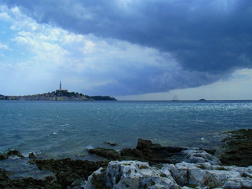 Dark clouds over Rovinj