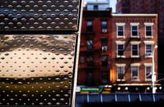 facades (@archphotographr) Tags: new nyc newyorkcity newyork detail brick classic metal architecture facade us shiny chelsea exterior manhattan places tradition typical innovation brownstone highline perforated treatment ef50mmf14usm archidose canoneos50d hassanbagheri 245tenthave