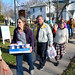 Members of the Unitarian Universalist Church in Canton collected more than 1000 food items to be donated to local food pantries. A convoy of all ages transported bags and boxes to the Church and Community Program just down the street. Photo: David Pynchon.