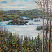 Lower Saranac, Winter, oil on canvas. Artist: Nancy Brossard