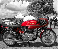 NorBSA Cafe Racer (davekpcv) Tags: old red classic bike vintage catchycolors gold star twin norton motorcycle 650 british rocket caferacer a10 bsa superrocket norbsa norbsacaferacer