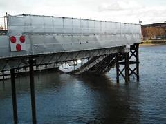 HMS Belfast brow damage (kenjonbro) Tags: uk london broken river southbank hmsbelfast walkway damage incident riverthames gangplank collapsed gangway brow kenjonbro fujihs10