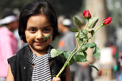 16 December, Victory Day of Bangladesh (Tipu Kibria~~BUSY~~) Tags: 16december victoryday victory girl kid children portrait smile cute innocent face people citykid flower rose festival tradition canon eos 7d canonef50mm18 canoneos7d