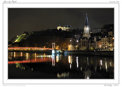 Lyon by Night (BerColly) Tags: bridge light france night river lyon riviere lumiere pont nuit rhonealpes saone