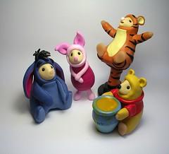 Winnie the Pooh Mice (Quernus Crafts) Tags: costumes cute mouse mice polymerclay winniethepooh tigger piglet eeyore quernuscrafts dressedupmouse