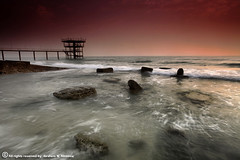 The Shaking Sea (ibrahem N. ALNassar) Tags: sea colors canon eos mark n ii 5d kuwait usm shaky ef 1740mm f4 q8 the ابراهيم الكويت كويت alnassar my ibrahem النصار نصار
